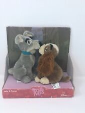 Disney Store Lady And The Tramp Kissing Plush Dogs Toys