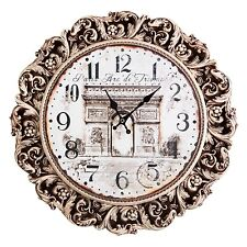 DECORATIVE CARVED WOODEN WALL CLOCK FINE ASH-TREE *EXCLUSIVE WOODEN CLOCK FRAME*