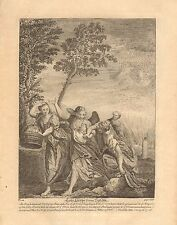 1770  ANTIQUE PRINT -BIBLE- LOT'S ESCAPE FROM SODOM