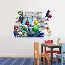 Super Mario Brother 3D Wall Sticker Children Art Bedroom Decal Boys Decor