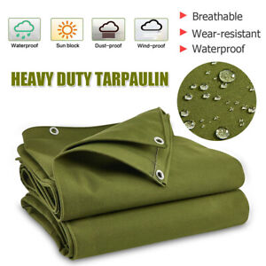 5 Type Army Heavy uty Canvas Tarp Tarpaulin Sun Blocked Waterproof ustproof