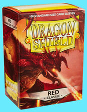 100 DRAGON SHIELD CLASSIC Standard Size RED Card Sleeves deck protector mtg ccg