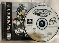 PS1 SuperCross Circuit (Sony PlayStation 1, 1999) COMPLETE Disc, Case & Manual