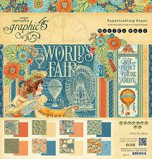 Graphic45 WORLD'S FAIR 12x12 PAPER PAD scrapbooking Vintage VINTAGE