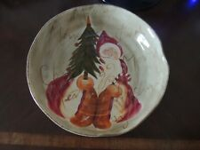 Tabletops Lifestyles - Old World Santa - Round Pasta/Serving Bowl - Brand New!