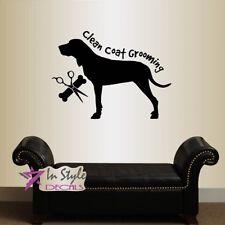 Vinyl Decal Grooming Salon Logo Dog Clean Coat Pet Shop Store Wall Sticker 2482