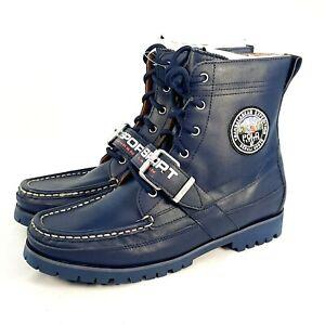 Polo Ralph Lauren Sport Men Combat Ranger Boots BO-CSL Leather Size 8.5D Fashion