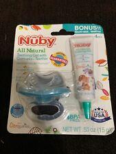 Nuby All Natural Teething gel with FREE gum-eez Teether 4m+ EXP 1/19+