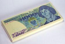 POLAND 1000 1,000 ZLOTYCH 1982 P 146 UNC (BUNDLE of 100 NOTES) COPERNICUS