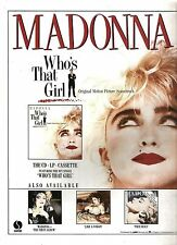 MADONNA Who's That Girl 1987 UK magazine ADVERT / mini Poster 11x8 inches