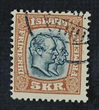 CKStamps: Iceland Stamps Collection Scott#85 Used OG Remains