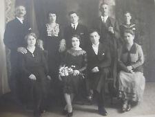 Photographie ancienne années 20 vintage portrait d'une famille Vienne Privat