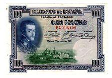 Espagne SPAIN ESPANA Billet 100 PESETAS 1925 P69 BON ETAT