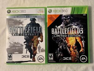 BATTLEFIELD BAD COMPANY 2 LIMITED EDITION & BATTLEFIELD 3 LIMITED EDITION SET