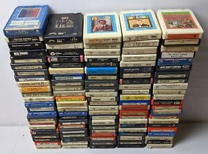 Lot of 20 Random 8 Track Tapes Different Collection Rock Country Pop 60s 70s 80s