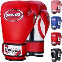 Farabi Kid Boxing Gloves Muay Thai Kick Boxing Training MMA Punching Bag Mitts
