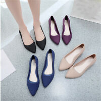 Single Shoes Pointed Toe Shallow Mouth Frosted Women Wedge Non-slip Work Shoes