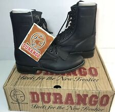 NOS DURANGO RD1870 Black Leather Kiltie Lacer Roper Boots Lace Up Women's 6 M
