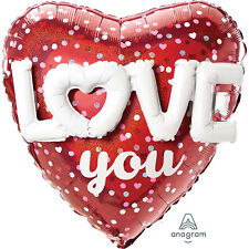 Love You Red Heart Balloon with LOVE formed in a balloon Valentine's Day Party