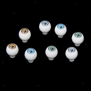 4 Pairs Round Acrylic Doll Eyes DIY Making Eyeballs 10mm