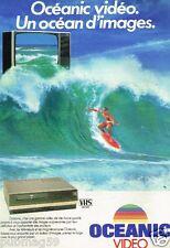 Publicité advertising 1985 Téléviseur magnetoscope Oceanic Video
