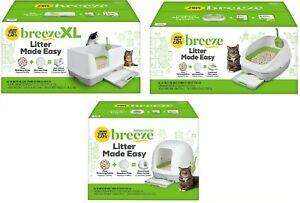 Tidy Cats Breeze Open Hooded XL Non-Clumping Cat Litter Box System Starter Kit ✔