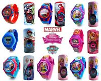 Kids Digital Characters Wrist Watch with Tin Bullet Gift Box for Boys Girls Xmas
