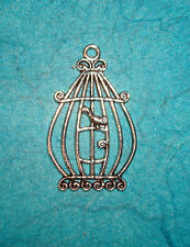 Pendant Bird Cage Charm Birds Charm Paris Chic Charm Wings Feathers Animal Charm