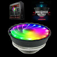 RGB Color CPU Cooler LED Air Heatsink Intel AMD PC Desktop Proc Fan P3O8