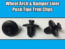 20x CLIPS FOR PEUGEOT CITROEN WHEEL ARCH & BUMPER LINER PUSH TYPE BLACK PLASTIC
