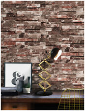 3D Peel and Stick Faux Brick Pattern Wallpaper Brown/Red Vinyl Paper Bathroom
