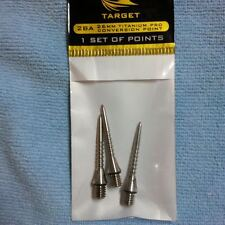 TARGET 26mm  2BA TITANIUM PRO GROOVED NATURAL CONVERSION POINTS