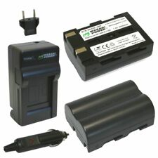 Wasabi Power Battery (2-Pack) and Charger for Samsung SLB-1674