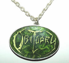 OBITUARY Vtg 1994 Enamel/Cast Pendant Necklace Poker not patch shirt lp tour cd
