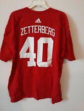 Adidas Nhl T-Shirt Detroit Red Wings Henrik Zetterberg Red Size 3Xl Xxxl