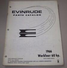 Parts Catalog Evinrude Workfour 60 HP Ersatzteilkatalog ET Katalog Stand 1966!