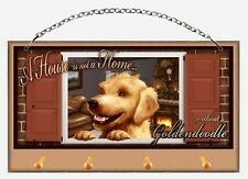 """A House is Not a Home without a Goldendoodle"" Key and Leash Holder"