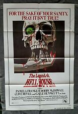 The Legend of Hell House Movie Poster HORROR Roddy McDowell PAMELA FRANKLIN 1973