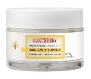 Burts Bees Night Cream W/Royal Jelly Skin Nourishment 1.8 Oz. Sealed Free Ship