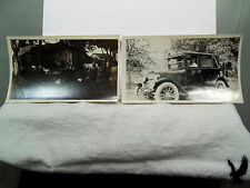 Lot of 2 Antique Photos Minn Plates Early Cars One is Buick Clothes on the Line