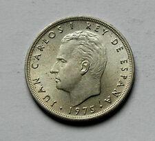 1975 SPAIN Coin - 5 Pesetas - UNC - toned lustre