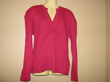 Dickies Women's Pink Split V-Top Shirt - Size Small - NWT