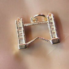 9ct gold new  solid london tower bridge charm