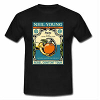 NEIL YOUNG Concert Band Tshirt Men's T-Shirt Black