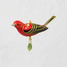 Hallmark 2018 ~ Red Tanager Miniature Bird Ornament