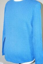 Mimi Maternity - Cableknit Long Sleeve Sweater - Blue Cotton Knit - Size Medium