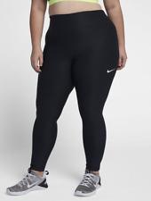 Nike Women's Dri-fit Gym Leggings 3xl / UK Plus Size 30-32 Black Aa8285 010