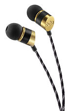 House of Marley Uplift In Ear Headphones with 1 Button Control & Mic - Gold