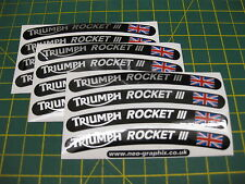 12 Triumph Rocket 3 Wheel Rim Stickers with the Union Flag