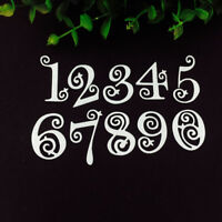 New Lace Numbers Metal Cutting Dies For DIY Scrapbooking Photo Album Decorative
